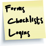Forms, Checklists, logins